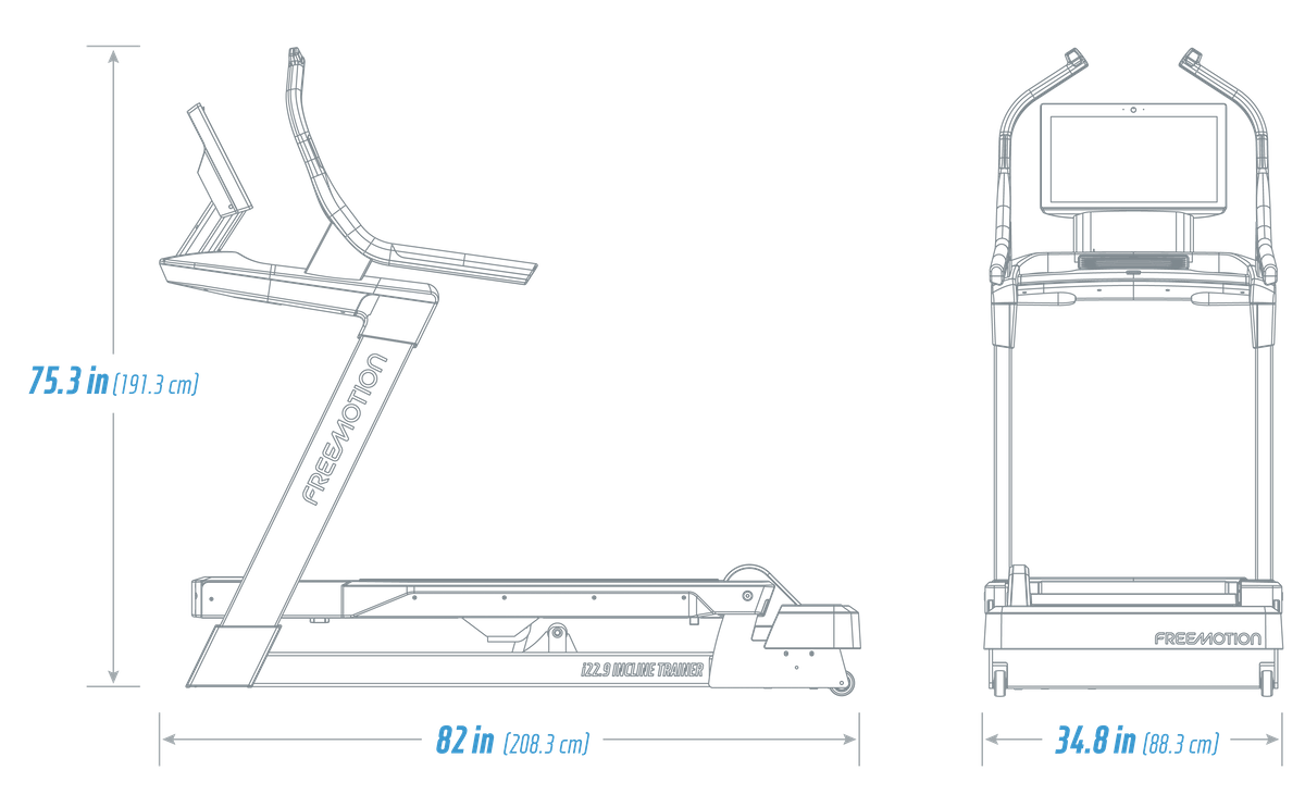 22 Series Freemotion Incline Trainer Specs