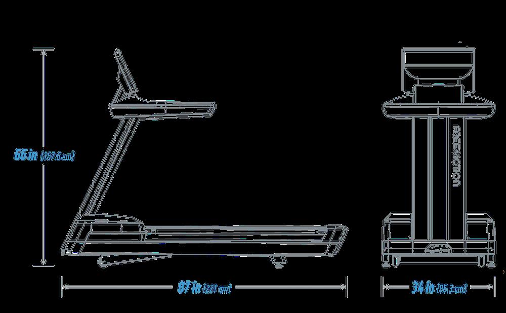 Freemotion 22 Series REFLEX Treadmill Specs