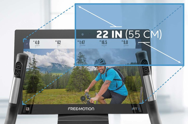 22 Inch Hd Display Feature 22 Series Freemotion Upright Bike