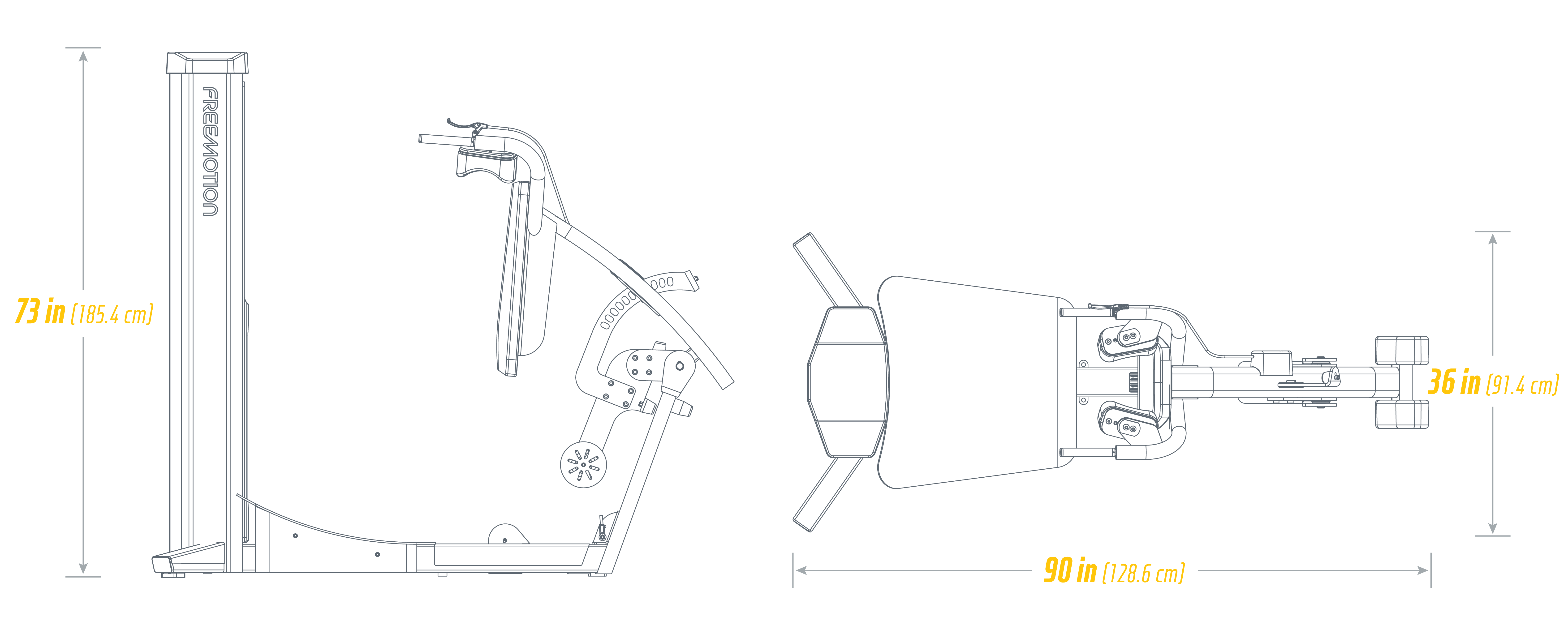 G610 Squat Footprint