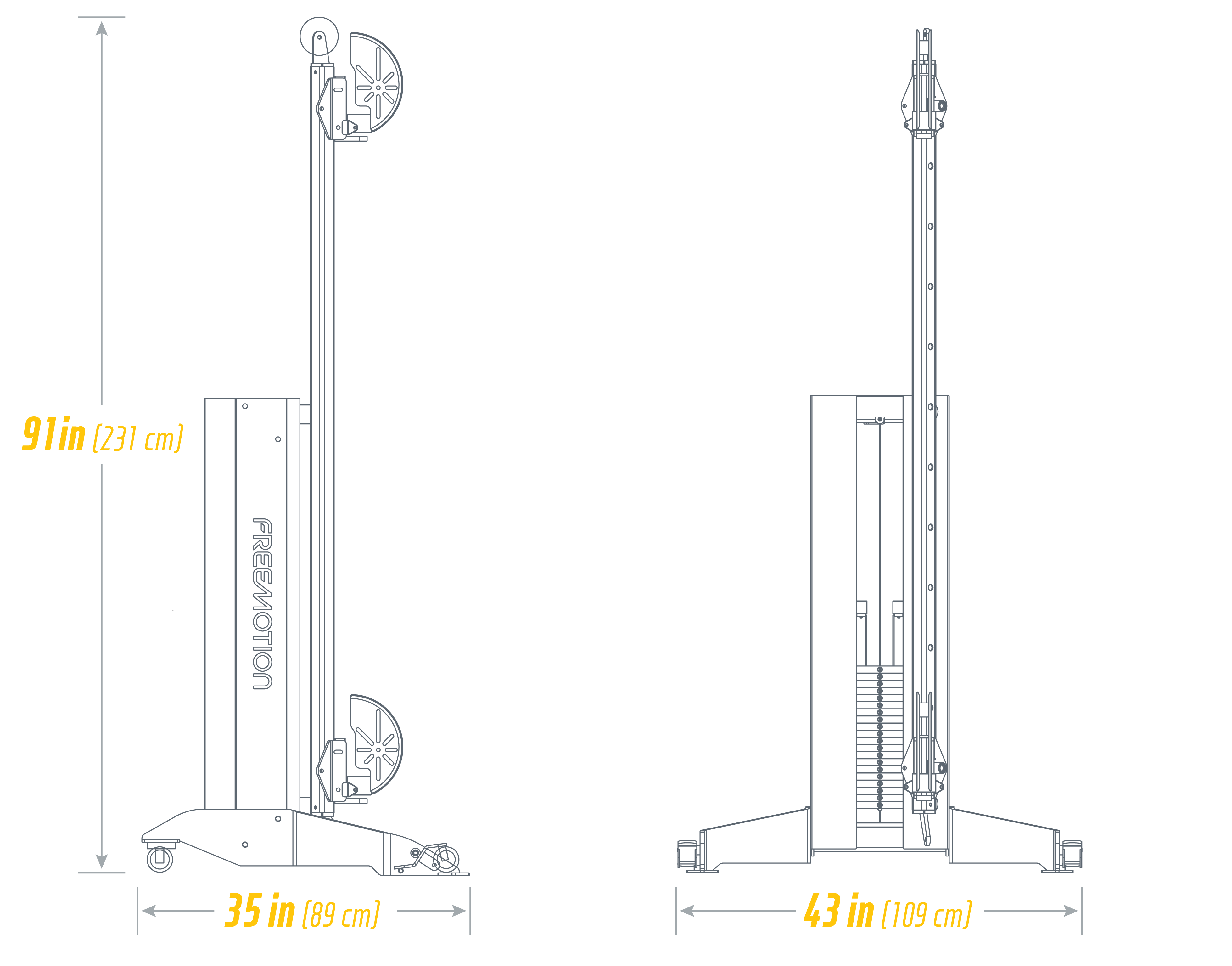 G625 Cable Column Footprint